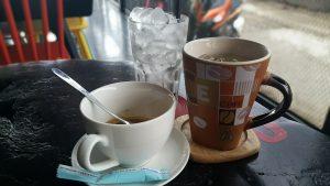 uống cà phê với mật ong rừng