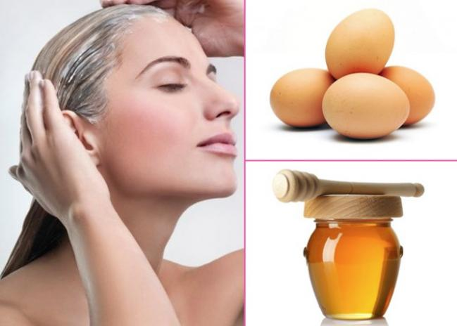 Mật ong và trứng gà chăm sóc tóc suôn mượt