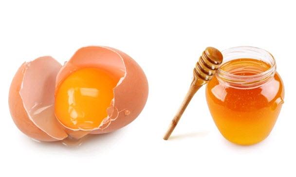 mật ong và trứng gà làm đẹp
