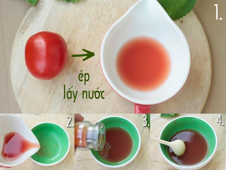 cách trị nám bằng mật ong rừng và cà chua