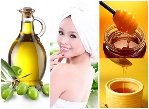 trị rụng tóc bằng mật ong và dầu oliu
