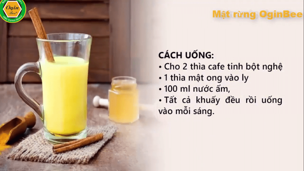 Cách pha tinh bột nghệ mật ong