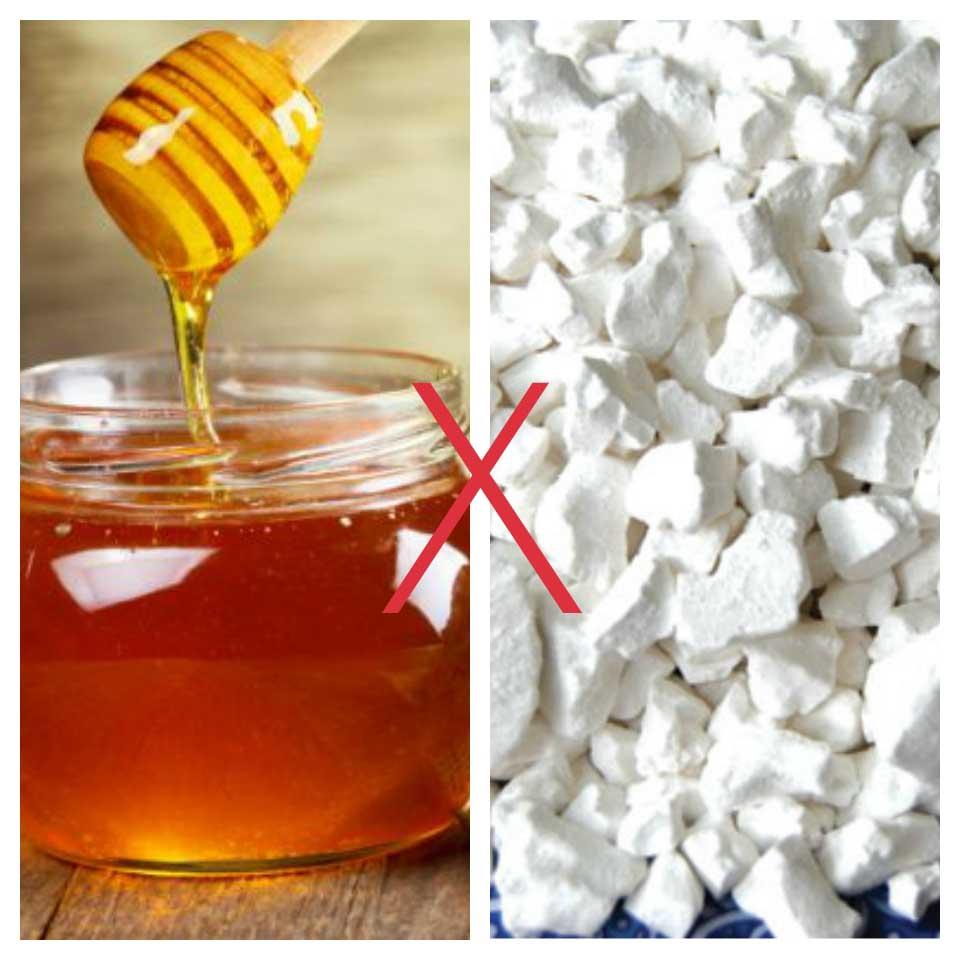 mật ong kỵ với bột sắn