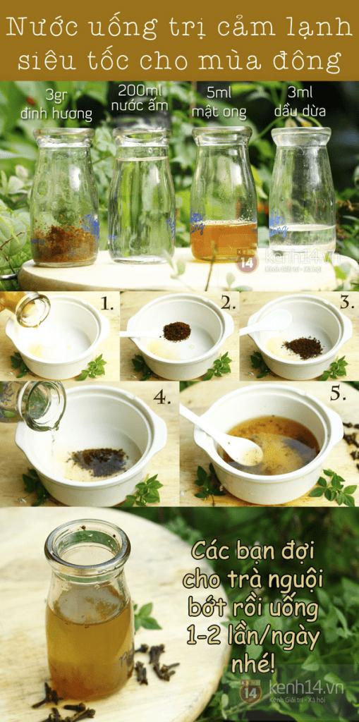chữa viêm họng bằng mật ong, dầu dừa và đinh hương